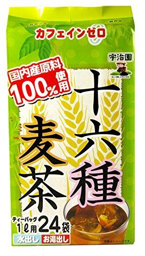 宇治園 国内産十六種麦茶ティーバッグ 168g×20個
