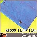澤商 ブルーシート #2000 10m×10m 2枚セット 養生用