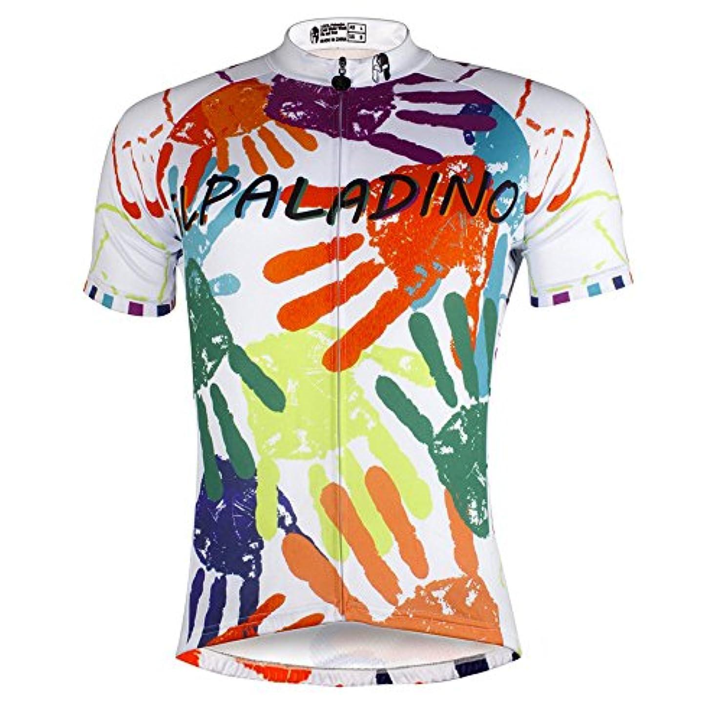 驚すばらしいですエスニック[ILPALADINO] #760 高品質サイクルメンズ用 短袖 3Dパッド付き半ズボン パンツ 上下セット cycling clothes サイクリングジャージ コンプレッションウェア 自転車服 レーサー
