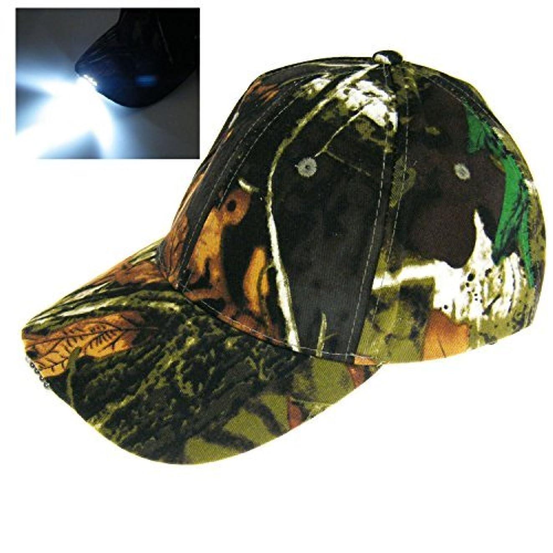 隣人女将活性化THKFISH フィッシングハット ビンテージ 迷彩 狩猟帽 釣り用キャップ ハイキングキャップ カモフラージュバケツ帽子 と LED ライト