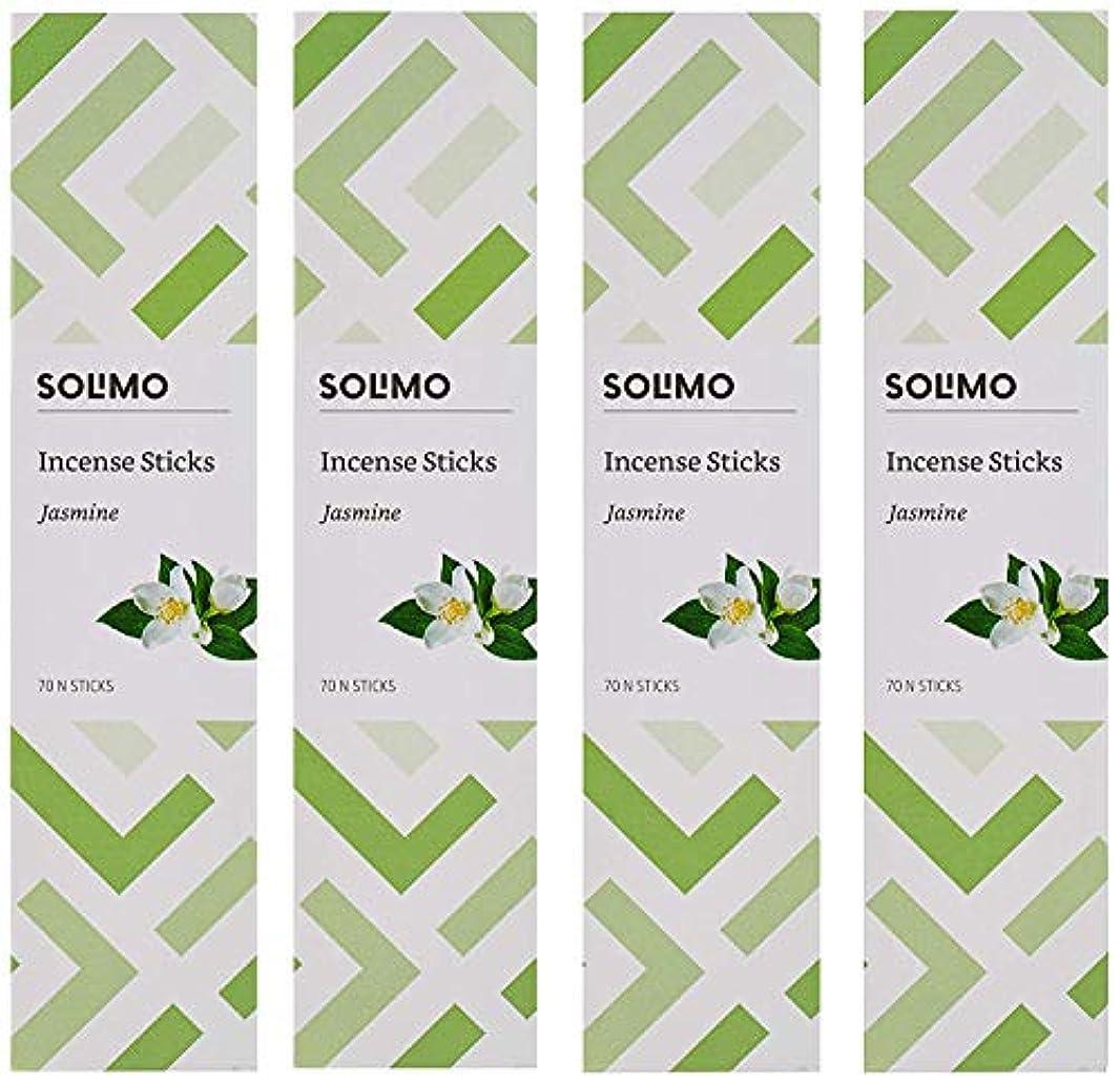 ラバ立派な前進Amazon Brand - Solimo Incense Sticks, Jasmine - 70 sticks/pack (Pack of 4)