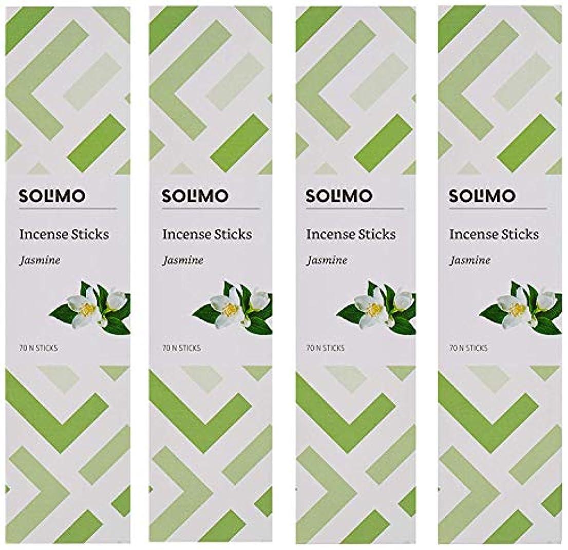 受け取る乱す自宅でAmazon Brand - Solimo Incense Sticks, Jasmine - 70 sticks/pack (Pack of 4)