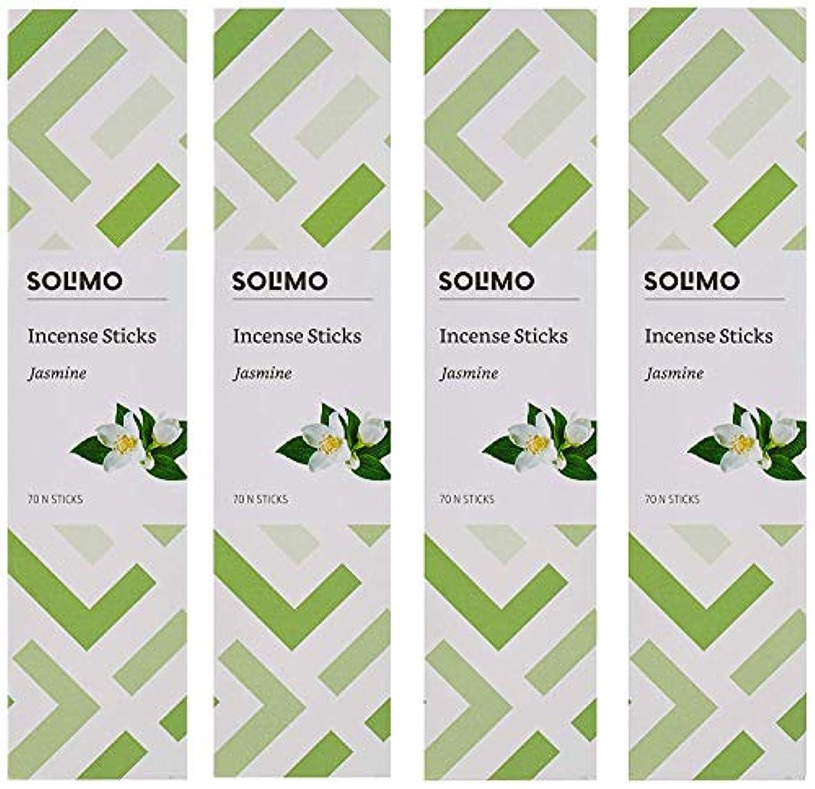 バルブ誇張売上高Amazon Brand - Solimo Incense Sticks, Jasmine - 70 sticks/pack (Pack of 4)
