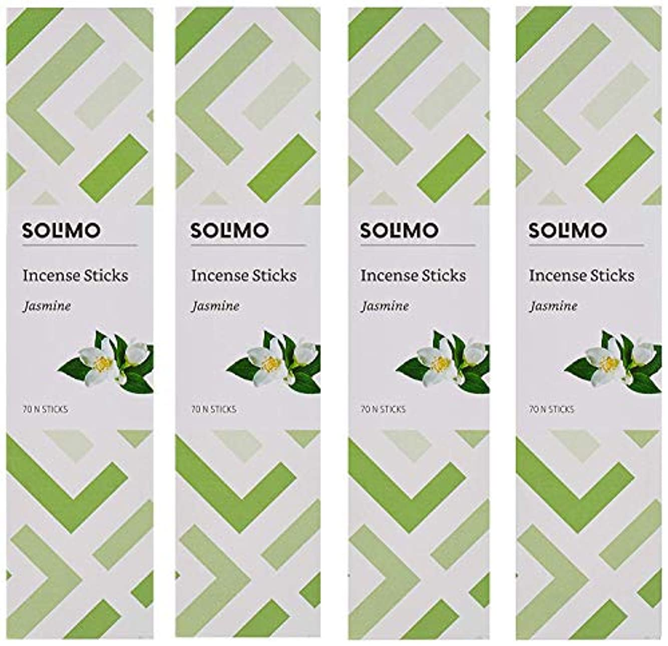 法王お香脆いAmazon Brand - Solimo Incense Sticks, Jasmine - 70 sticks/pack (Pack of 4)