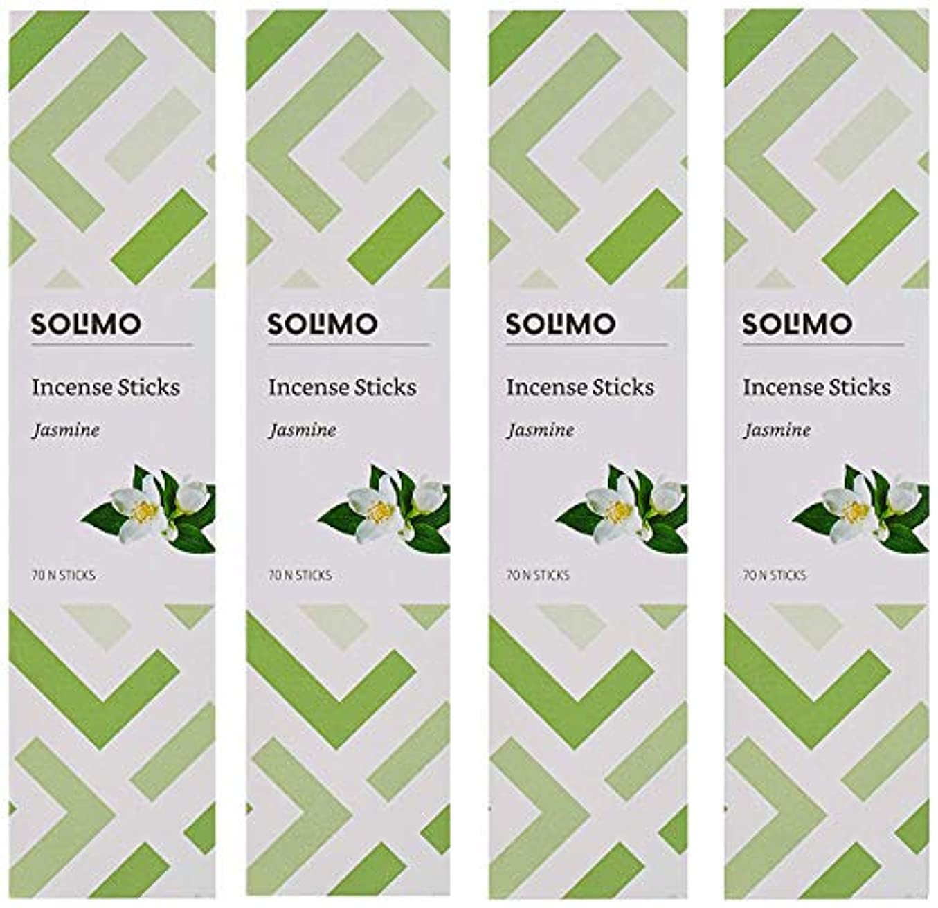 アイスクリーム趣味感謝祭Amazon Brand - Solimo Incense Sticks, Jasmine - 70 sticks/pack (Pack of 4)