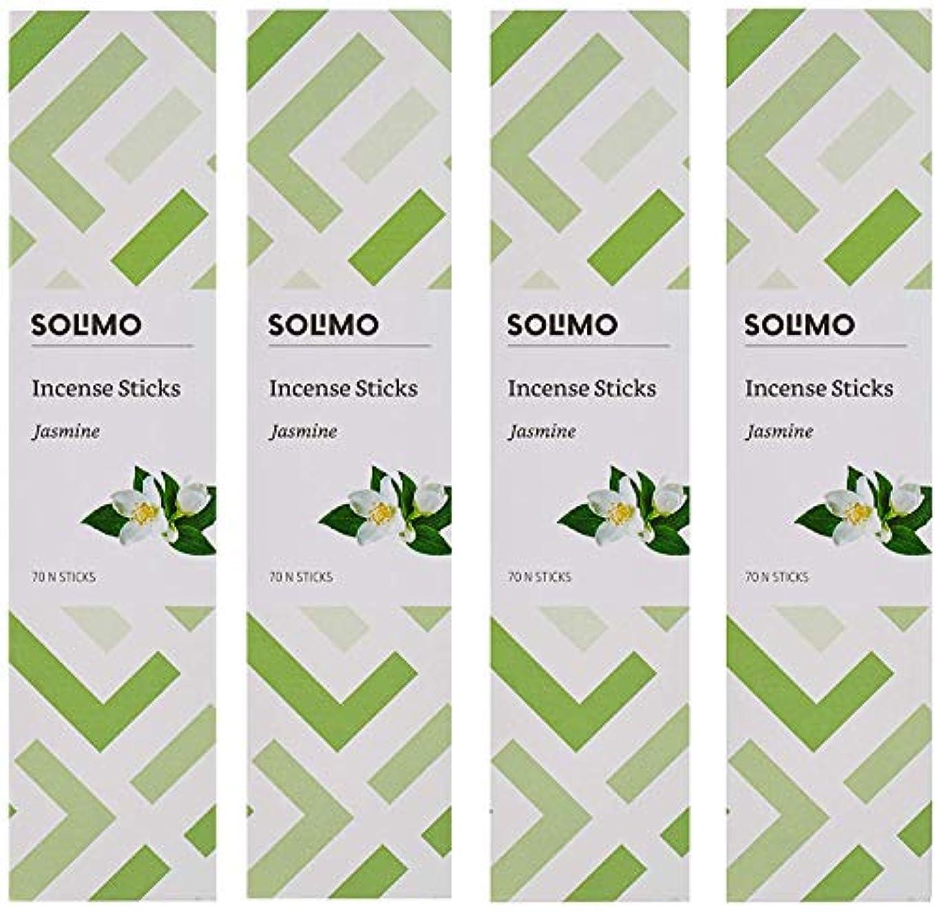 アドバイスごみと闘うAmazon Brand - Solimo Incense Sticks, Jasmine - 70 sticks/pack (Pack of 4)