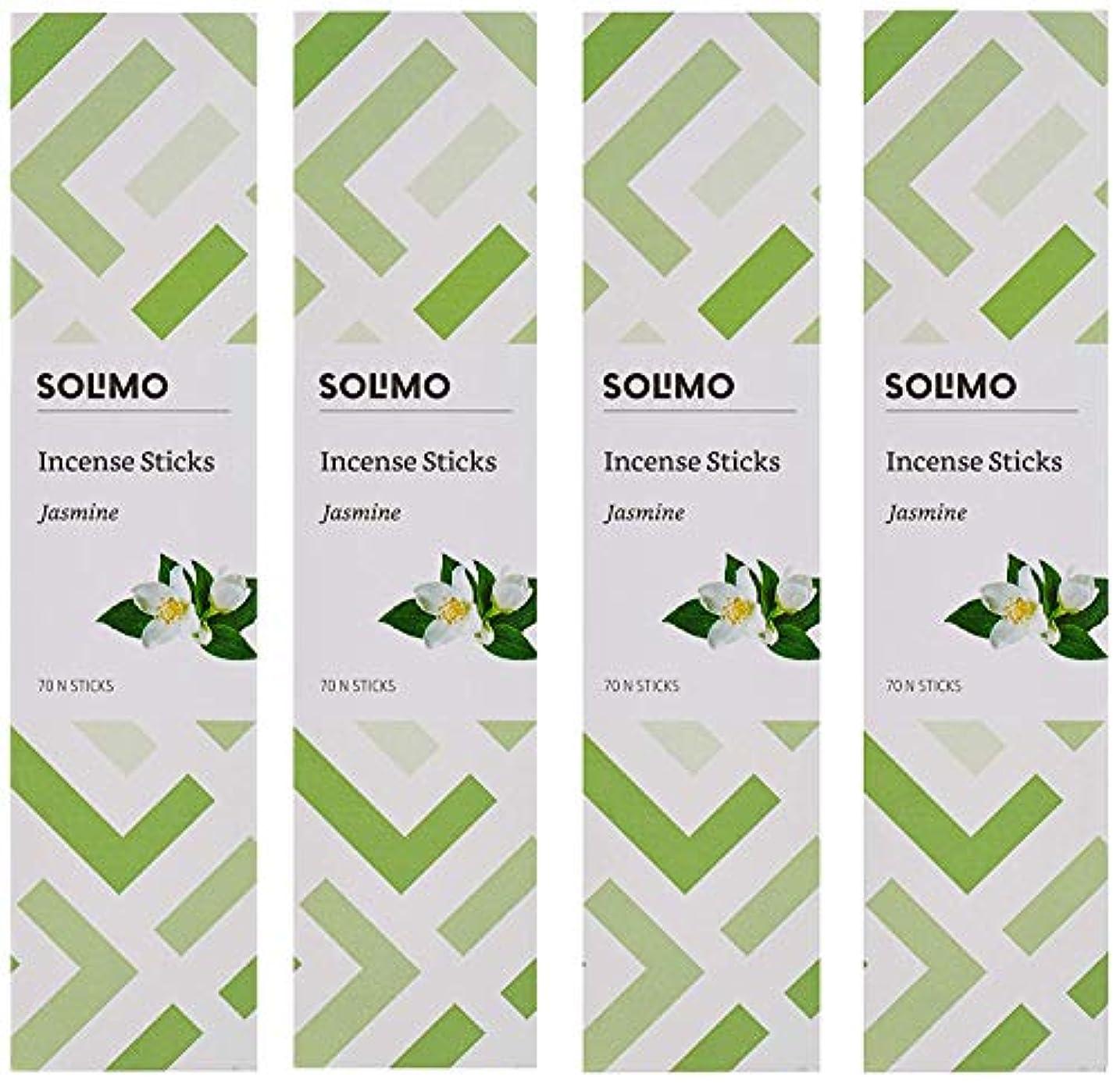 囲いブランド名としてAmazon Brand - Solimo Incense Sticks, Jasmine - 70 sticks/pack (Pack of 4)