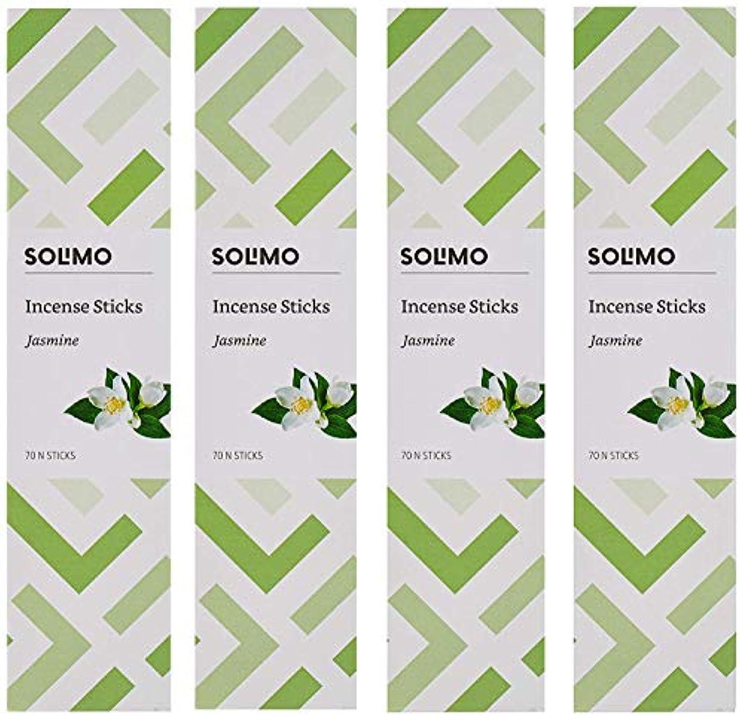 インデックス仮定ロッジAmazon Brand - Solimo Incense Sticks, Jasmine - 70 sticks/pack (Pack of 4)