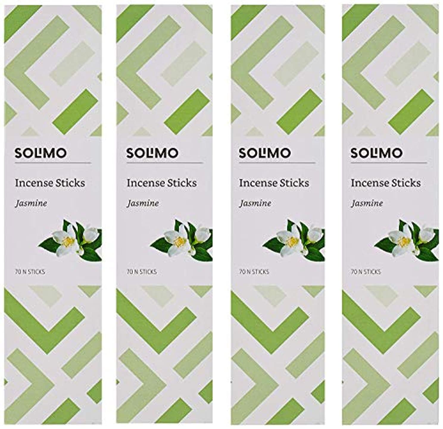 突っ込むお祝い略すAmazon Brand - Solimo Incense Sticks, Jasmine - 70 sticks/pack (Pack of 4)