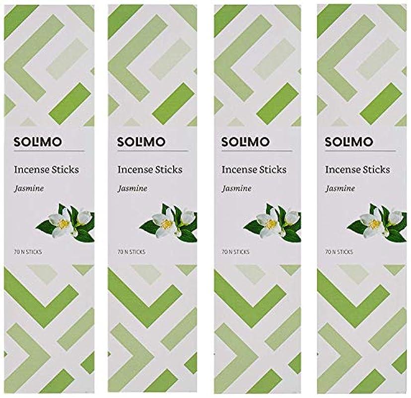 楽しませる迫害する音楽家Amazon Brand - Solimo Incense Sticks, Jasmine - 70 sticks/pack (Pack of 4)