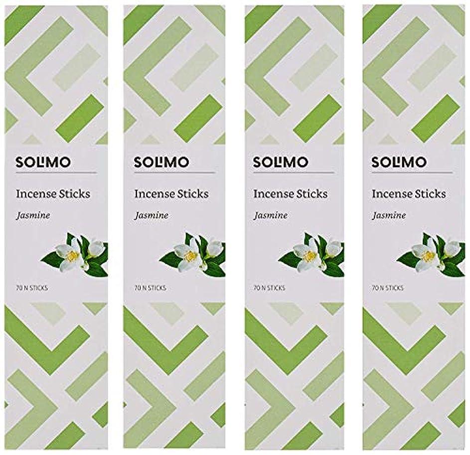 逃れるキャッチ満足Amazon Brand - Solimo Incense Sticks, Jasmine - 70 sticks/pack (Pack of 4)
