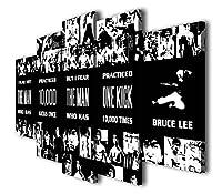 Susu–5個ブルース・リーQuote 10000Kicksキャンバスアート引用符ジークレー印刷絵画画像ウォールアートホームデコレーションギフト SIZE 2: 12x16inx2pcs, 12x24inx2pcs, 12x32inx1pc