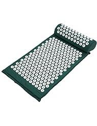 Decdeal ヨガマット マッサージクッション 指圧マット枕 折り畳み 健康 血流促進 (みどり)