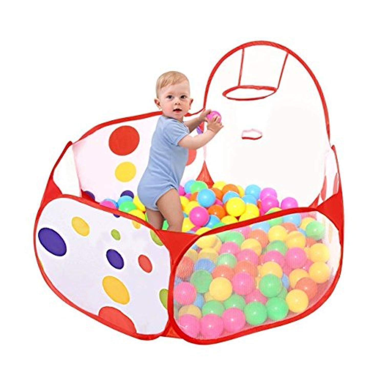 NOT Home おもちゃ ボールプール キッズプレイルーム 折り畳み式 バスケットゴール付 室内室外遊具 収納便利 子供ギフトに適応 知育玩具 (120×60×74CM, ボールプール)