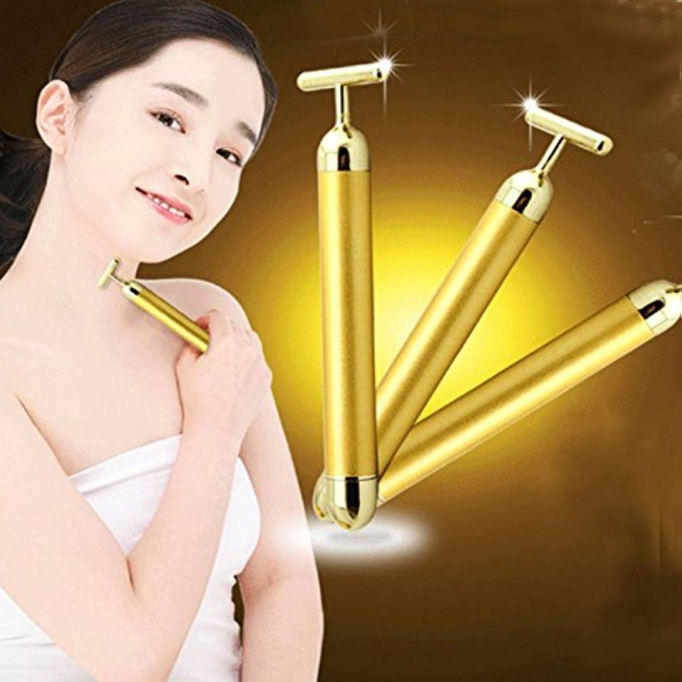 パット二週間墓MSmask ゴールデン美容スリミング 美顔器 T形ゴールドフェイシャル美容マッサージャー エネルギー