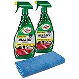 Turtle Wax 50823 Quick & Easy Wash & Wax Kit Wax & Dry (2-Pack) 52 fl. oz, 2 Pack