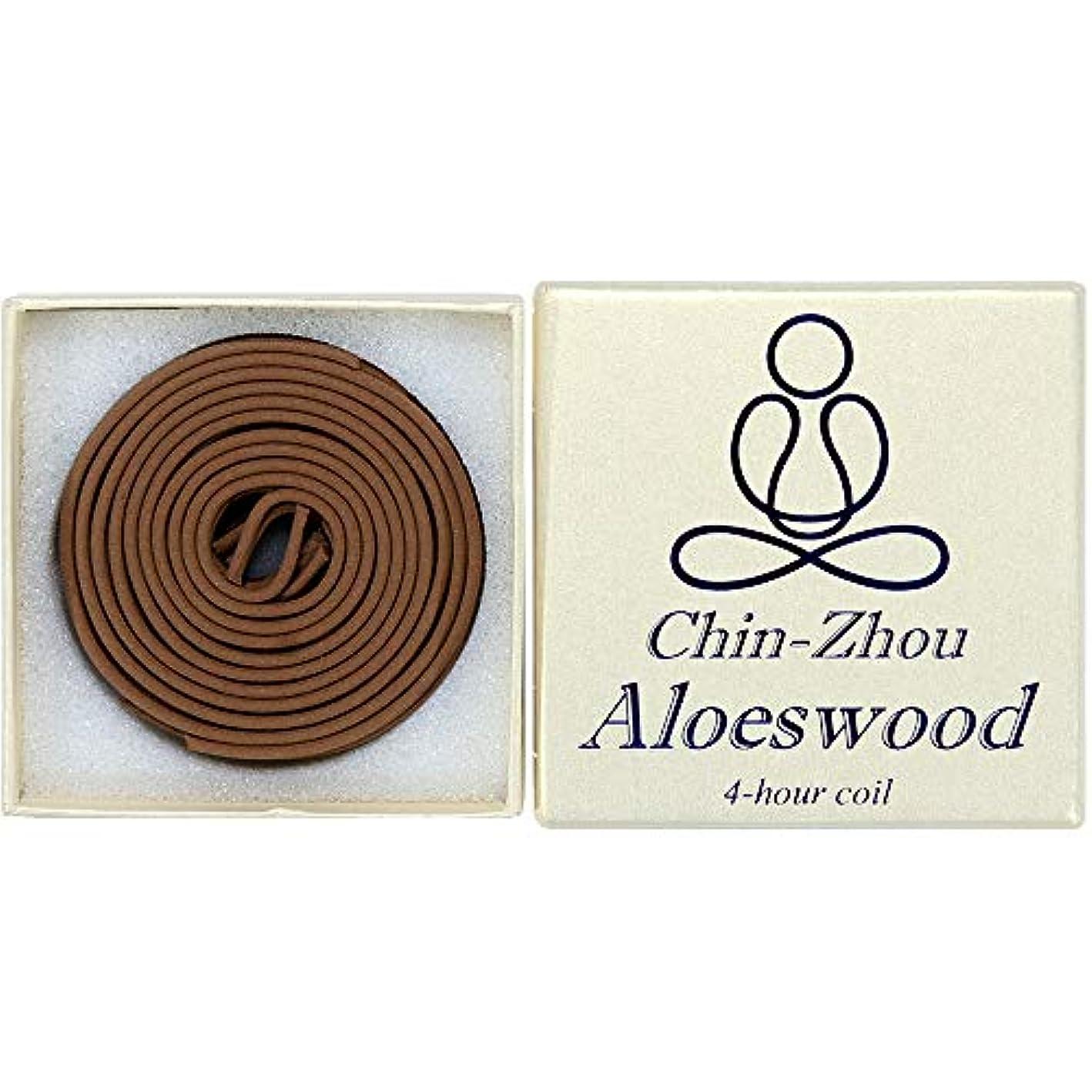 上下する基本的な受取人12ピース4-hour chin-zhou Aloeswoodコイル – 100 % Natural – f023t