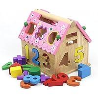 Goodgoods 3Dパズル つみきパズル パズルボックス キッズ 木製 幾何認知 おもちゃ 知育玩具 013-lzgy-d-072(16*18*14.5cm 約1000g)