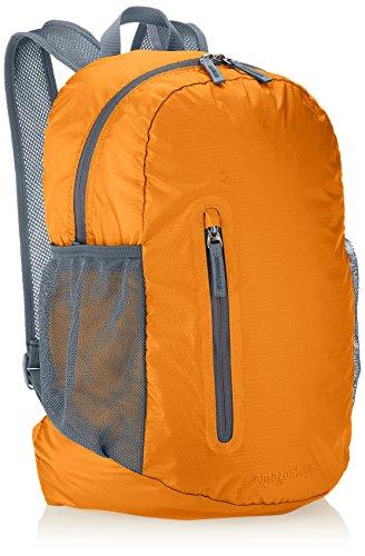 Amazonベーシック 超軽量折りたたみバックパック 35L オレンジ