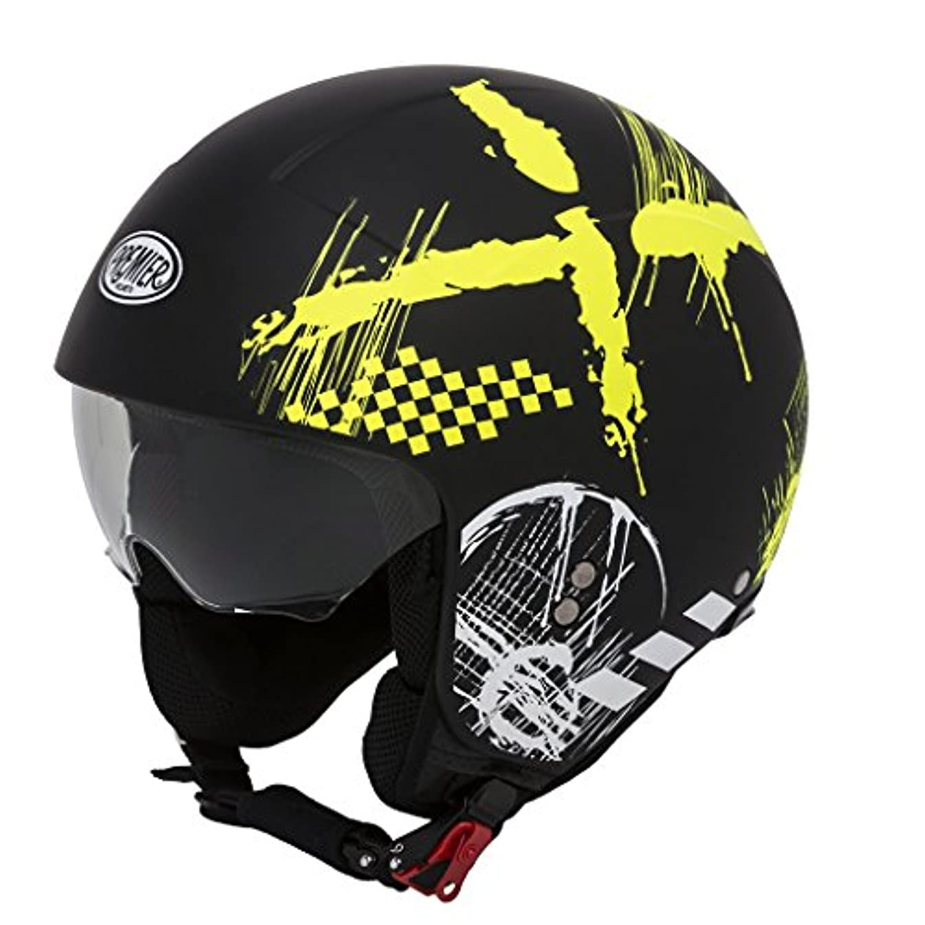 時制対処影響を受けやすいですPREMIER / プレミア ROCKER RXY BM オープンフェイス ヘルメット, サイズ : M