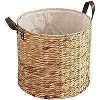 ポータブルラタンランドリーバスケット家庭大型汚れたハンパー服雑貨のストレージバスケット (サイズ さいず : 30 * 23cm)