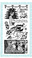 メリークリスマス ~ クリアスタンプ (9x18cm)//Merrie Christmas ~ Clear stamps pack (9x18cm) FLONZ