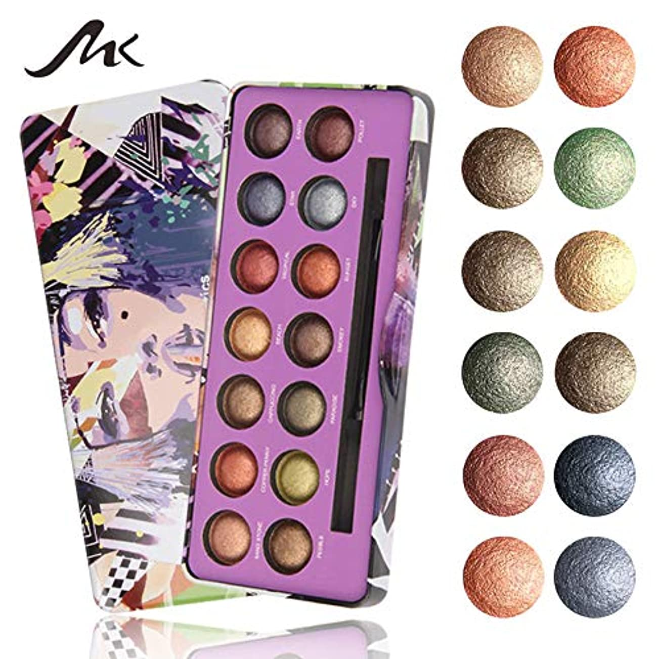 アウトドアファイバリーンAkane アイシャドウパレット MK 綺麗 人気 気質的 真珠光沢 チャーム 魅力的 マット つや消し 長持ち ファッション 防水 おしゃれ 持ち便利 Eye Shadow (14色) 8293