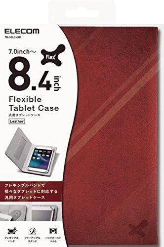 エレコム 7.0〜8.4インチ汎用タブレットケース レザータイプ レッド TB-08LCHRD 1個
