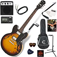 EPIPHONE エレキギター 初心者 入門 ギブソンES-335のエピフォン版 ミニアンプが入ったお手軽13点セット Dot/VS(ヴィンテージサンバースト)