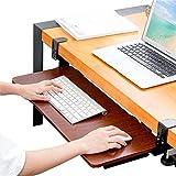 Ergonomic Keyboard Tray Clamp Desk Extender Slides Keyboard Desk Tray Undermount Under Desk
