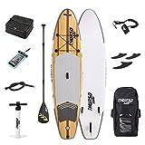 THURSO SURF ウォーターウォーカー オールラウンド 空気注入式スタンドアップパドルボード SUP 10.6フィートx31インチx6インチ (320x79x15 cm) ダブルレイヤー デラックス パッケージ カーボンシャフトパドル/2+1 クイックロックフィン/デッキバッグ/リーシュ/バックパッ