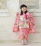 七五三 着物 3歳 被布セット  (ふわふわ桃(ピンク))  女の子 七五三着物 子供 こども お祝い着 着物 襦袢 草履 セット