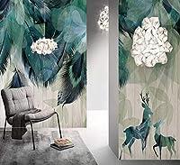 Noweima1999 カスタム壁画壁紙現代のミニマリストの羽抽象芸術壁画リビングルームの寝室の家の装飾壁紙3D-280X200Cm