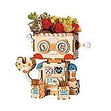 Robotime フラワーポット 鉢 立体パズル 木製 DIY クラフト 子供 おもちゃ (ロボット)