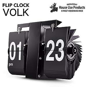 (パタパタ時計) FLIP CLOCK Volk (ブラック)