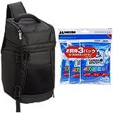 Amazonベーシック スリングバッグ 7.7L 一眼レフ用 ブラック + HAKUBA 強力乾燥剤 キングドライ 3パック KMC-33S セット