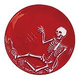 おもしろ食器 皿 激辛骸骨 小皿 約11cm SAN3604