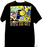 """NBA Paul George Indiana Pacers """"Own The City"""" Black T-Shirt Adult XXL Tee by VF [並行輸入品]"""