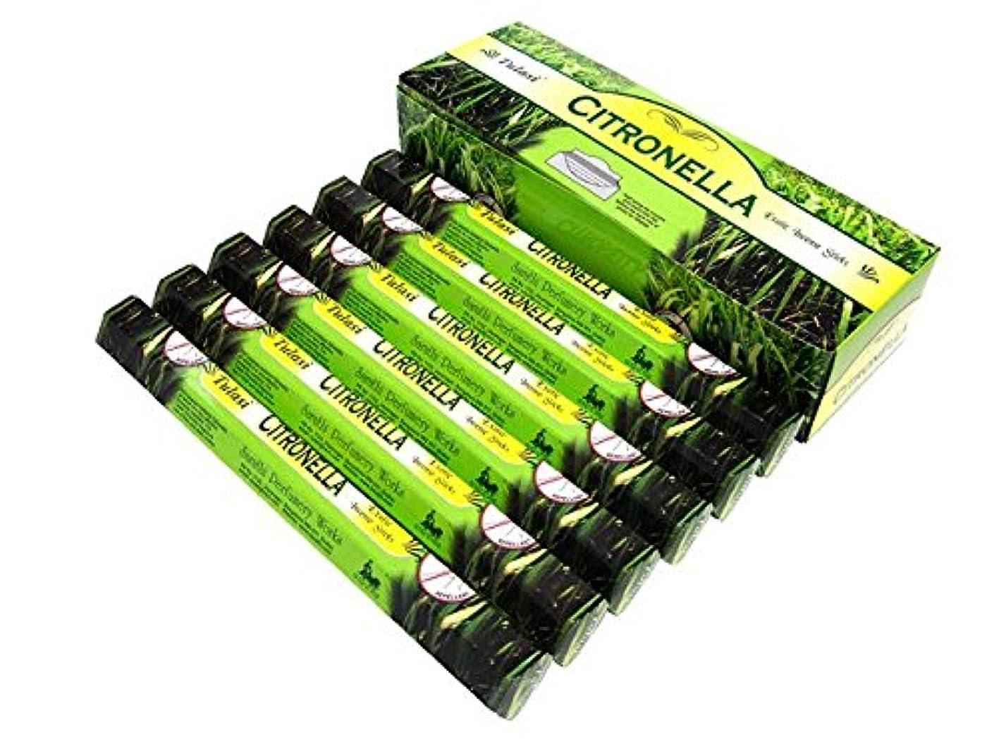 家禽王位反抗TULASI(トゥラシ) シトロネラ香 スティック CITRONELLA 6箱セット