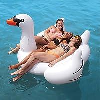 JQStar 海水浴、プール 、水遊び、大人 子供用  高品質、面白い、個性的、大型 浮き輪 (白鳥 190x175x115CM)