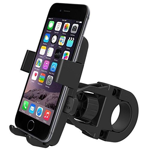 Jobson【独自オートリリース機能×安全ゴム付属】自転車 / バイク 専用 スマホ 携帯 ホルダー ナビ (ハンドル設置) スタンド マウント 360°回転 & 縦横調整 各種スマホ対応 幅50-75mm iphone 6/5S/5/4S/Nexus5/Galaxy/Xperia 対応 JB-998 [メーカー長期12ヶ月保証]