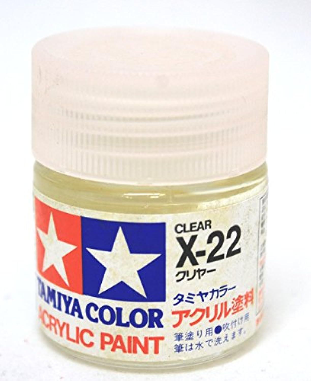 タミヤカラー X-22 クリヤー アクリル塗料 23ml