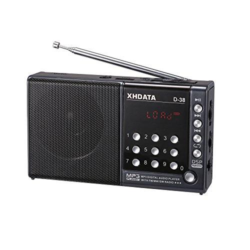 XHDATA® D-38 (日本語版取扱説明書) 新一代FMステレオ音声/中波/短波/MP3プレイ/DSPフルバンドラジオ D38 gray (グレー)