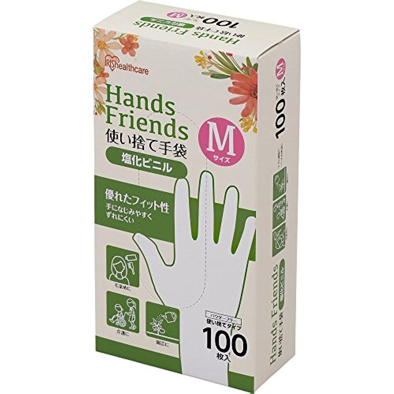 震える教師の日保全使い捨て手袋 クリア 塩化ビニル 100枚 Mサイズ PVC-100M