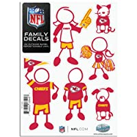 (Small) - Siskiyou Kansas City Chiefs 13cm x 18cm Family Car Decal Sheet