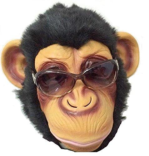 チンパンジー サル 猿 申 えと 干支 十二支 アニマル 動物 ラバー マスク 夏 秋 祭 盆 踊り ハロウィン 肝試し クリスマス お面 仮面 コスプレ 仮装 変装 パーティー イベント 宴会 に