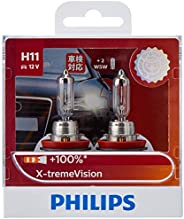 Philips X-treme Vision Plus 100% H11 12V globes - twin display pack