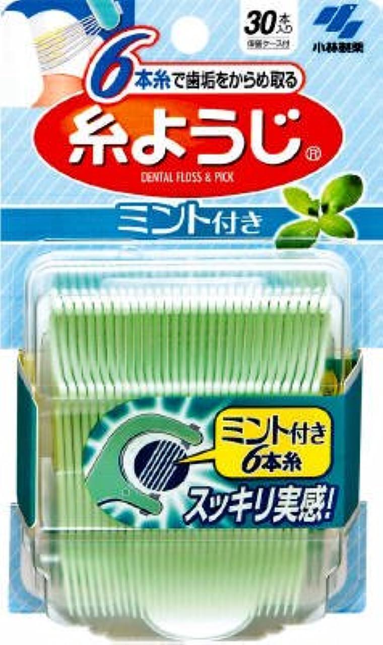 橋泣き叫ぶ保存する糸ようじ ミント付き 30本×10