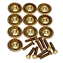 ピンバッジ製作用の部品 ネジ式 長さ 8ミリ 真鍮 10組で1セット