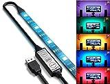 TOPMAX RGB LEDテレビのUSBバックライト 1m 5V 30 Led 防水仕様 TVバックライト 両面テープ 部屋照明 HDTVテープライト USBライト